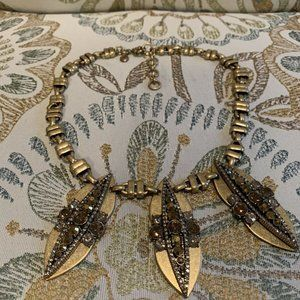 J.CREW $98 Antique Gold Tone Statement Necklace